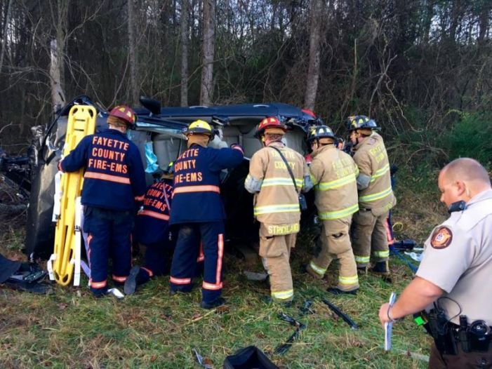 Man freed from vehicle after crash on Hwy. 279
