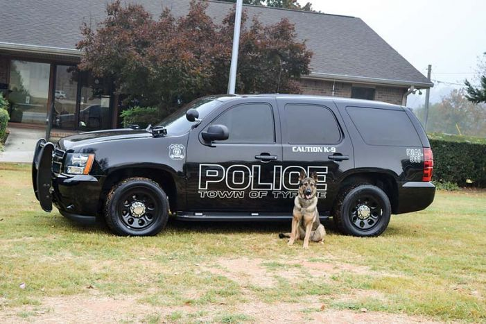 Tyrone's cop dog gets body armor