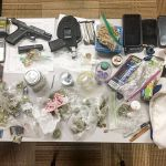 A Jan. 13 traffic stop in Peachtree City yielded a quantity of drugs and paraphernalia. Photo/Peachtree City Police Department.