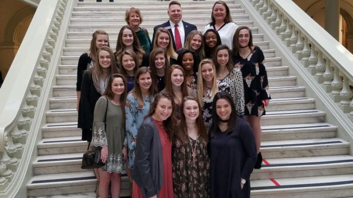 State cheer champs visit Gold Dome