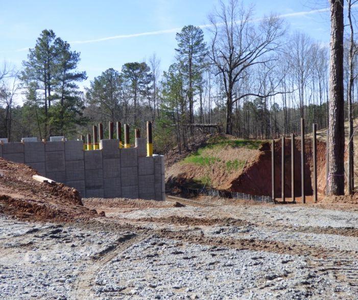 Construction progress in Peachtree City