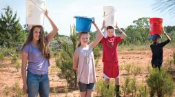 Students walk for water