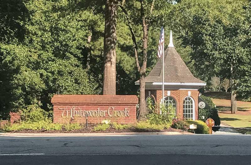 Whitewater Creek Neighborhood Sign
