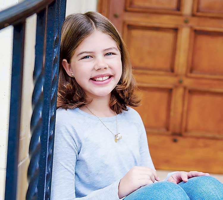 Isabella Hickey, 11, Peachtree City, is scheduled to be one of Camp Broadway's singing children at this year's parade. Photo/Submitted.