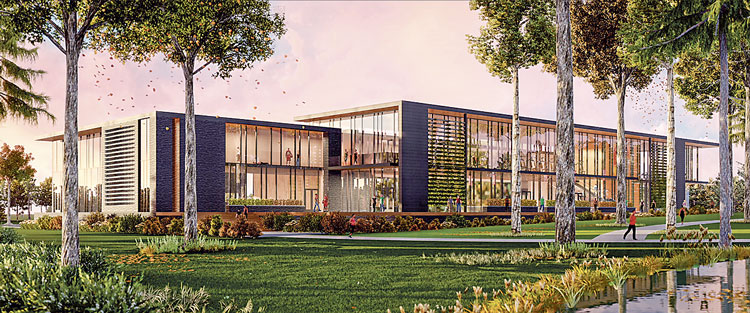 Wellness Center rendering courtesy of Perkins + Will.