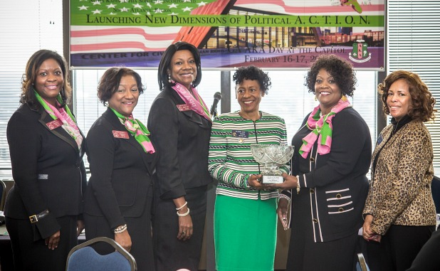Seay's service is honored by Alpha Kappa Alpha Sorority