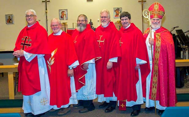 Five ordained as priests at Christ the King Charismatic Episcopal