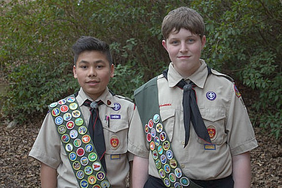 Castro, Austin attain Eagle Scout