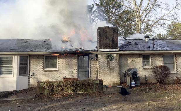 Tyrone home heavily damaged in fire