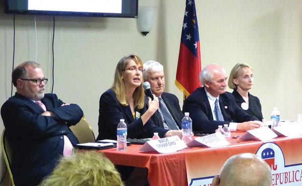 Incumbent judges take heat in forum