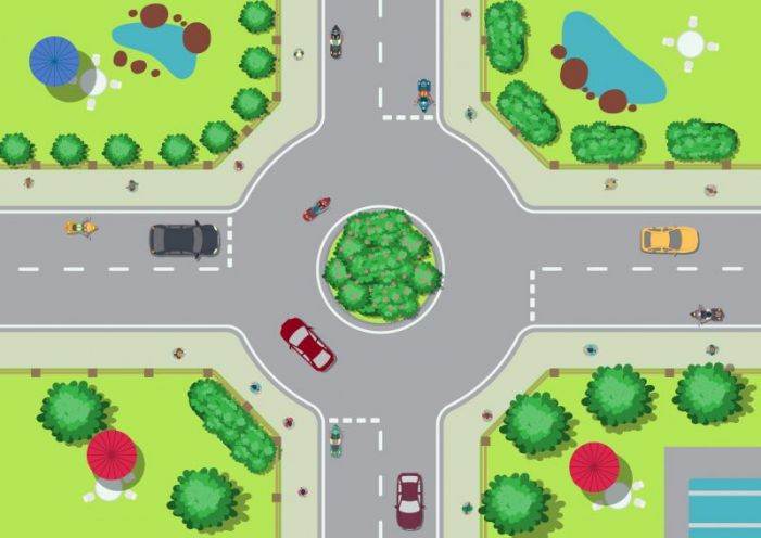 Mini-roundabout coming to busy road intersection